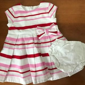 Kate Spade New York Stripe Fit & Flare Baby Dress